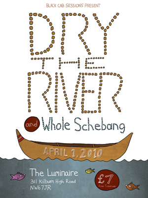 Poster design for the band Dry the River.