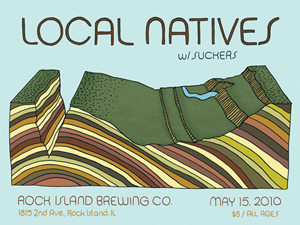 Poster design and illustration done for a Local Natives show put on by Daytrotter.
