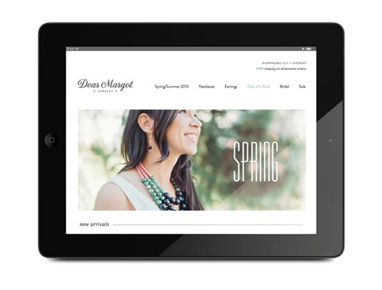 Created a new identity and website for Dear Margot Jewelry (formerly Bellissima Jewelry Design).