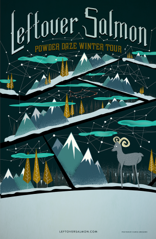 A Winter Tour poster for the band Leftover Salmon.