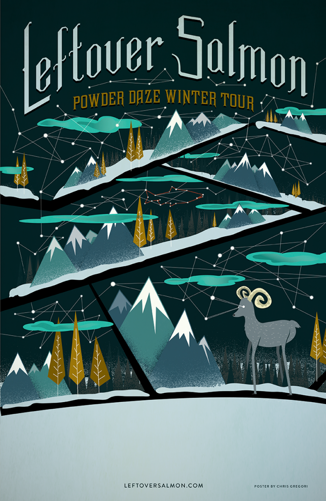 Leftover Salmon Winter Tour Poster