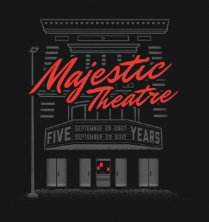 5th anniversary tshirt for Majestic Theatre in Madison, WI.