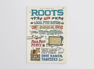 Cover illustration for the 2014 Colorado Roots Guide.
