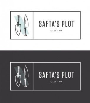 Identity and collateral for Softa's Plot restaurant.