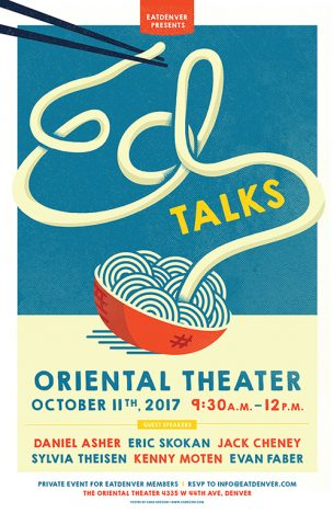 Poster illustration and design for an Ed Talk that took place in Denver.