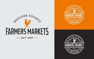 Identity and collateral design for the Boulder County Farmers Market.